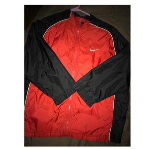 Nike red and black jacket